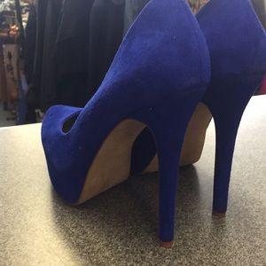 Jessica Simpson Shoes - Jessica Simpson Blue Suede Heels